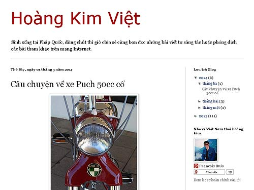 Vietnamiesisches Feature über Puch & Co