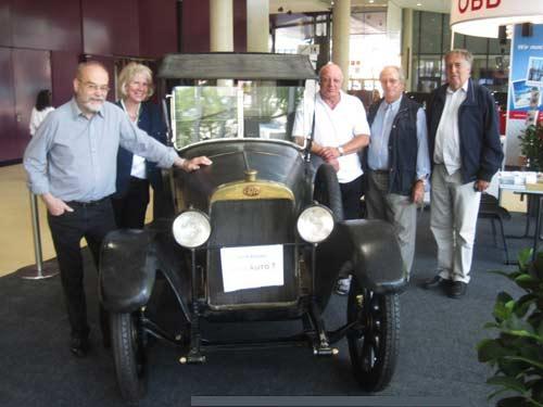 Von links: Heinz und Lisl Mesicek, Walter Pipek, Stefan Reitgruber und Ing. Franz Legenstein