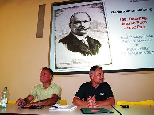 Gemeinderat Peter Piffl-Percevic (links) und Alois Schadler (S-Tec)