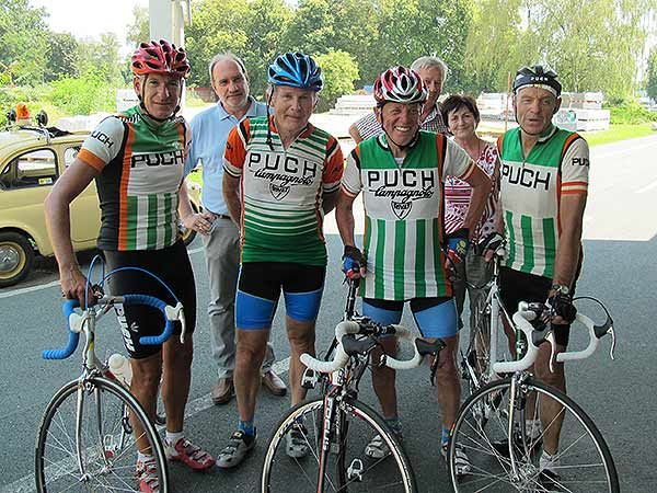 Glocknerkönig Rudi Mitteregger schaut mit einem Team in Graz vorbei