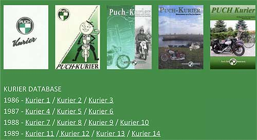 Wunderbare Zeitdokumente: Die Ausgaben des holländischen Puch-Kurier