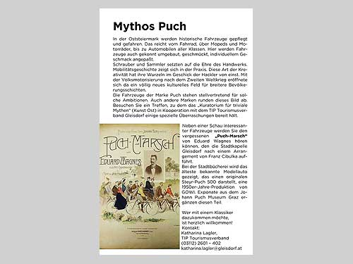 "Gleisdorf widemt sich dem Thema ""Mythos Puch"""