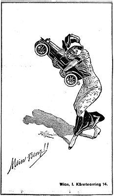 """Eine Werbeeinschaltung aus dem jahr 1914: """"Mein Benz!!"""""""