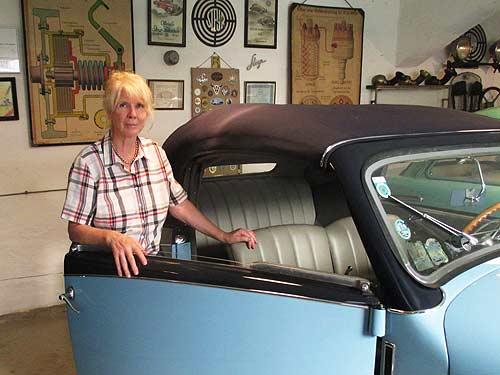 Lisl Mesicek, Vizepräsidentin der Österreichischen Gesellschaft für historisches Kraftfahrwesen.