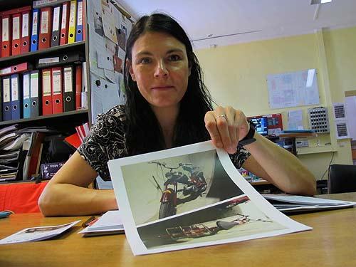 Katrin Knass vom Feuerwehrmuseum