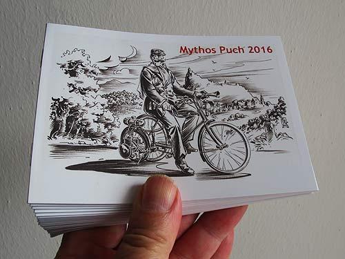 Gratis im Museum erhältlich: Das Booklet zu Mythos Puch III